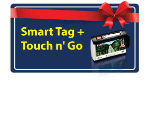 Get a Complimentary Smart Tag + RM50 Touch 'n Go with Your New Card