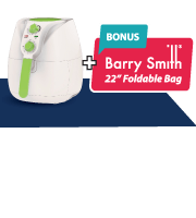 Complimentary iDover Air Fryer + Barry Smith Foldable Bag!