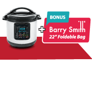 Get a  Free Pressure Cooker + Barry Smith Foldable Bag!