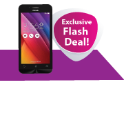 Exclusive Flash Deal! Get an Asus ZenFone Go 4.5 with Your New Card!