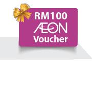 Get a Free RM100 AEON Voucher