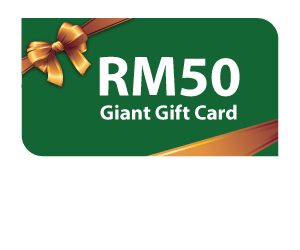 Complimentary RM50 Giant Gift Card with Standard Chartered CashOne