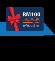 Get a RM100 LAZADA  e-Voucher